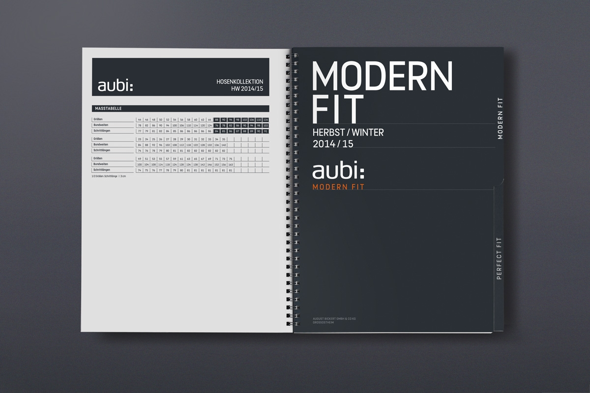 Mustermappe Register modern fit